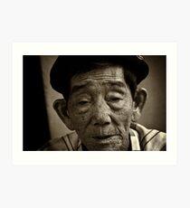 Vietnam - Ho Chi Minh City - Old Man Street Artist Art Print