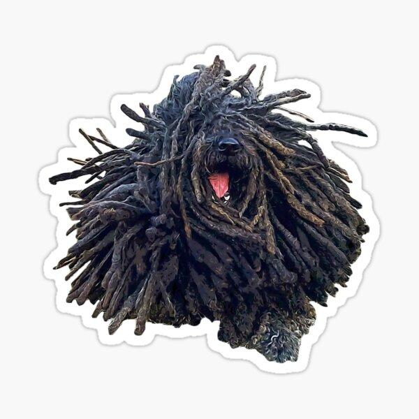 Hungarian Puli Puppy Dog Dreadlocks Sticker