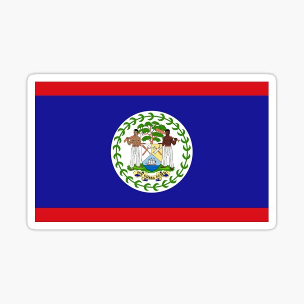 Belize Flag Gifts, Stickers & Products Sticker