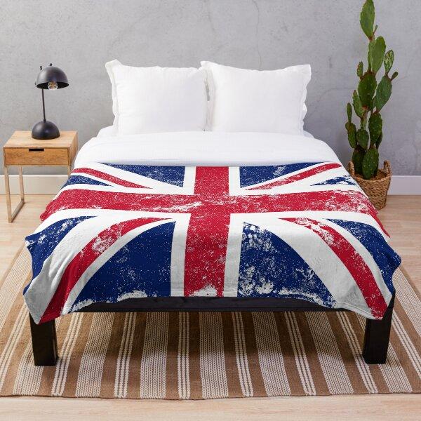 Distressed Union Jack Flag Throw Blanket