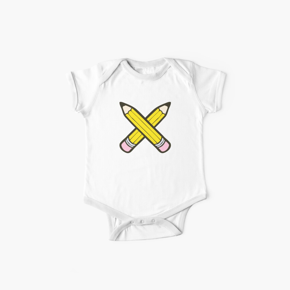 Pencil Power Blue Pattern Baby One-Piece