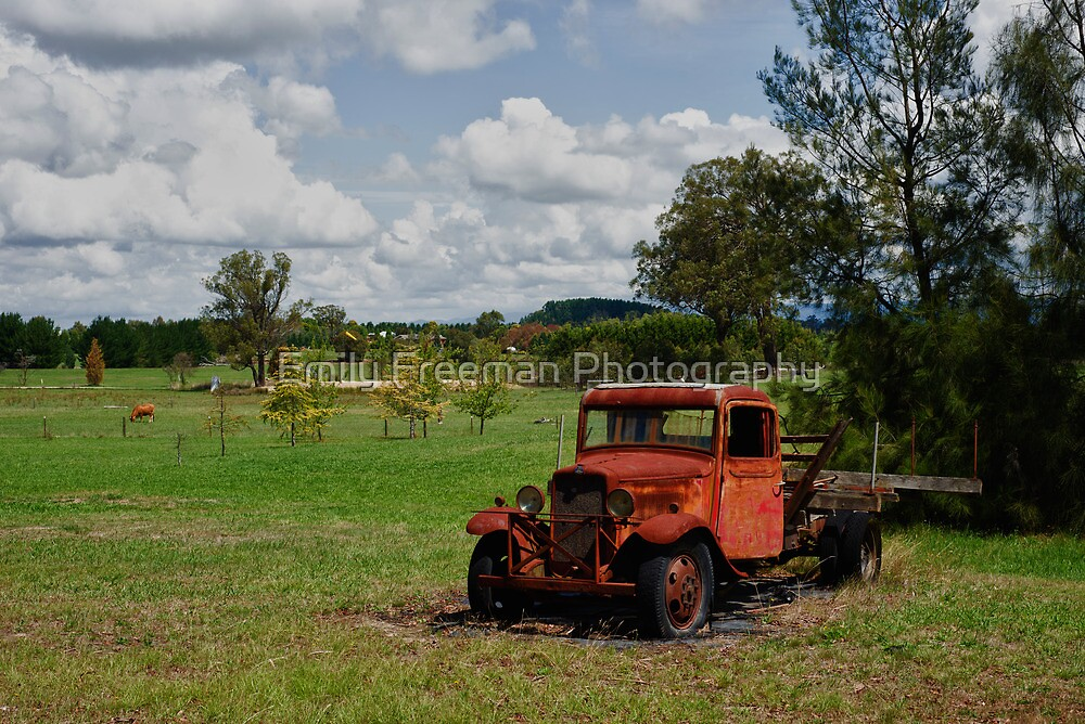 Rusty Red Truck by Emily Freeman Photography
