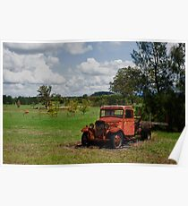 Rusty Red Truck Poster