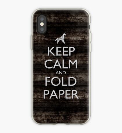 Keep Calm and Fold Paper - Unicorn / Metal iPhone Case