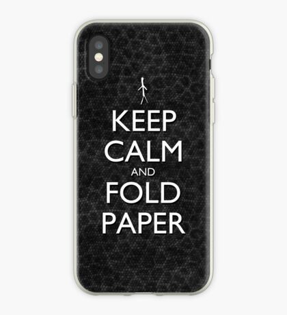 Keep Calm and Fold Paper - Stick Man / Snakeskin iPhone Case