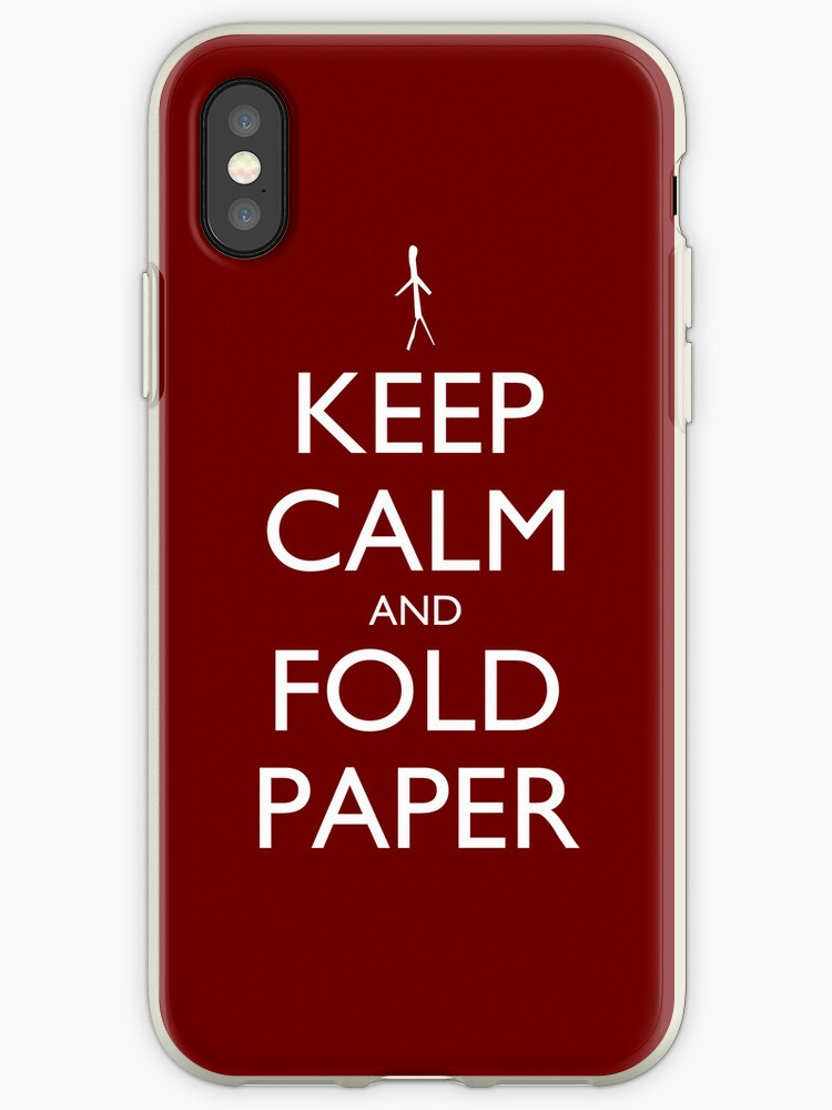 Keep Calm and Fold Paper - Stickman/Red by olmosperfect