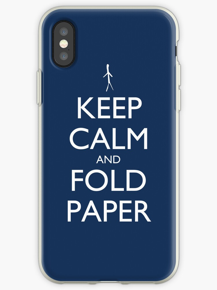 Keep Calm and Fold Paper - Stickman/Blue by olmosperfect