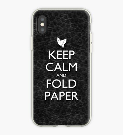 Keep Calm and Fold Paper - Chicken / Snakeskin iPhone Case