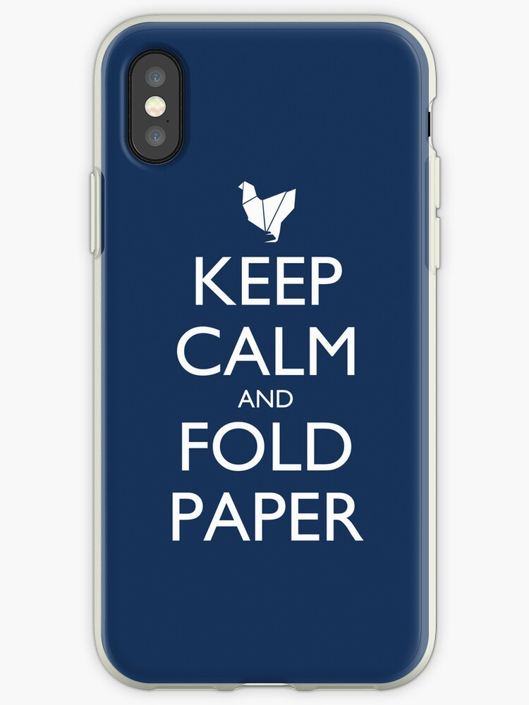 Keep Calm and Fold Paper - Chicken/Blue by olmosperfect