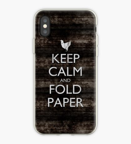 Keep Calm and Fold Paper - Chicken/Metal iPhone Case
