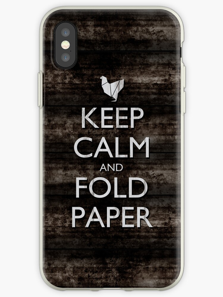 Keep Calm and Fold Paper - Chicken/Metal by olmosperfect