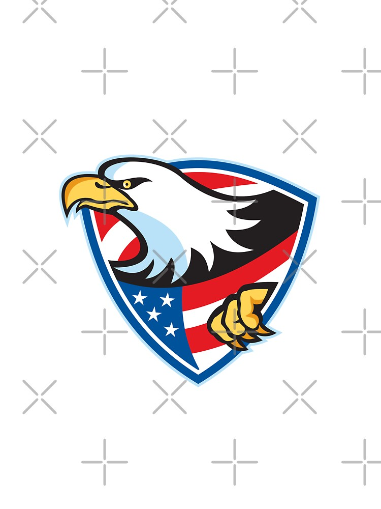 American Bald Eagle Flag Shield by patrimonio
