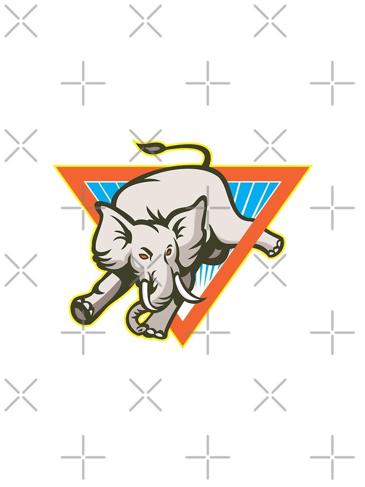 Elephant Jumping Bucking Triangle by patrimonio