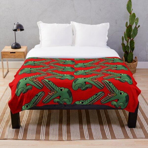 Crocodile pattern Throw Blanket