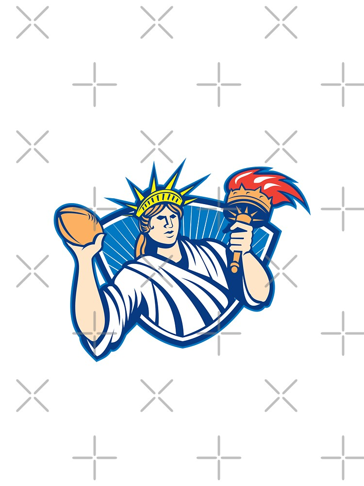 Statue of Liberty Throwing Football Ball by patrimonio