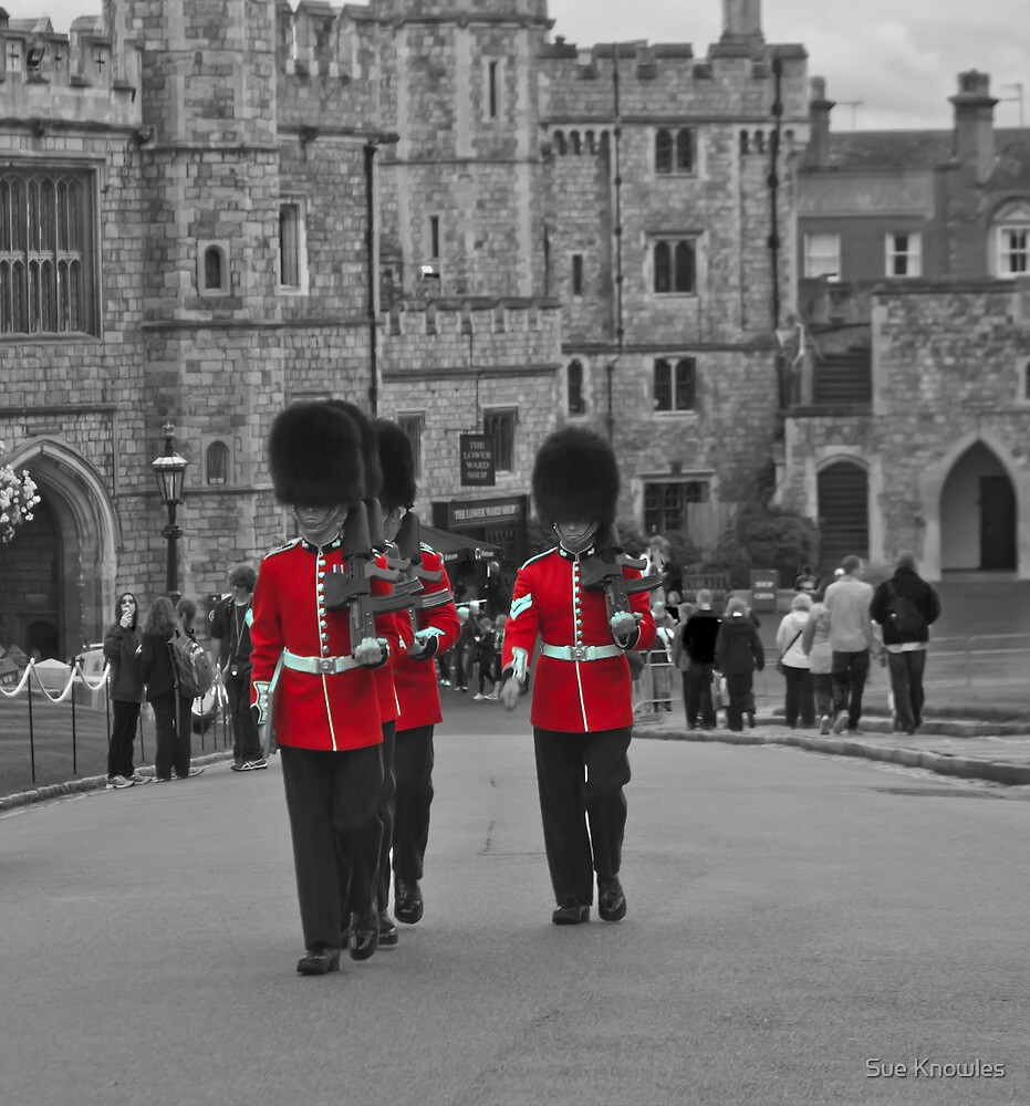 Guarding Windsor Castle by Sue Knowles