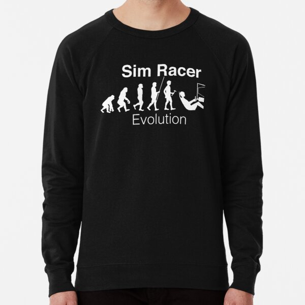 Sim Racer Evolution tee.  Lightweight Sweatshirt