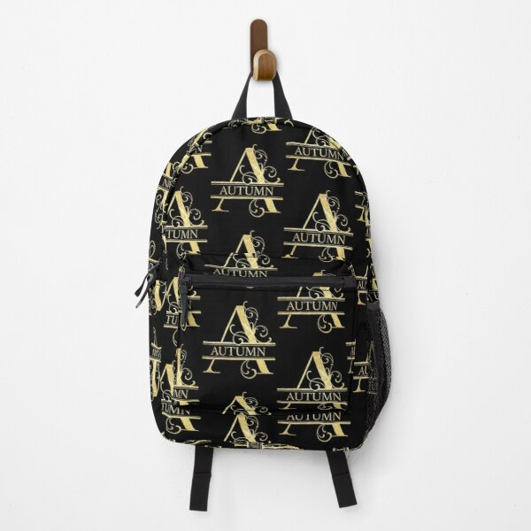 Autumn Name -  Monogram Letter A The Autumn Name Gift For Autumn Backpack