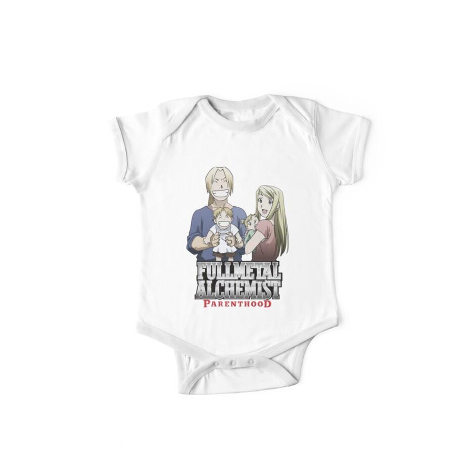 Fullmetal Alchemist Parenthood One Piece Short Sleeve By Alchemy Shirt Navy Calfrills