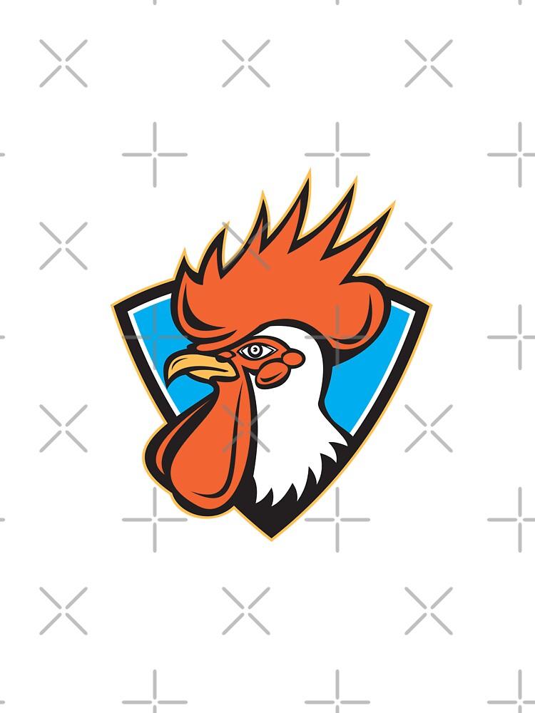 Rooster Cockerel Head Crest by patrimonio