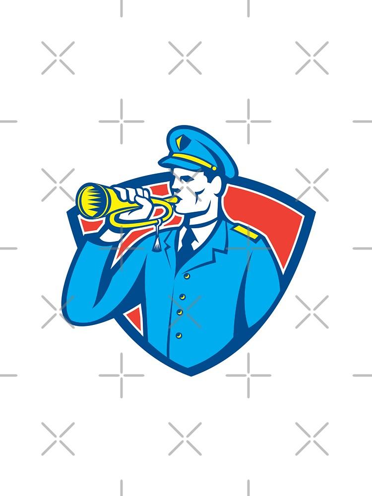Soldier Blowing Bugle Crest by patrimonio