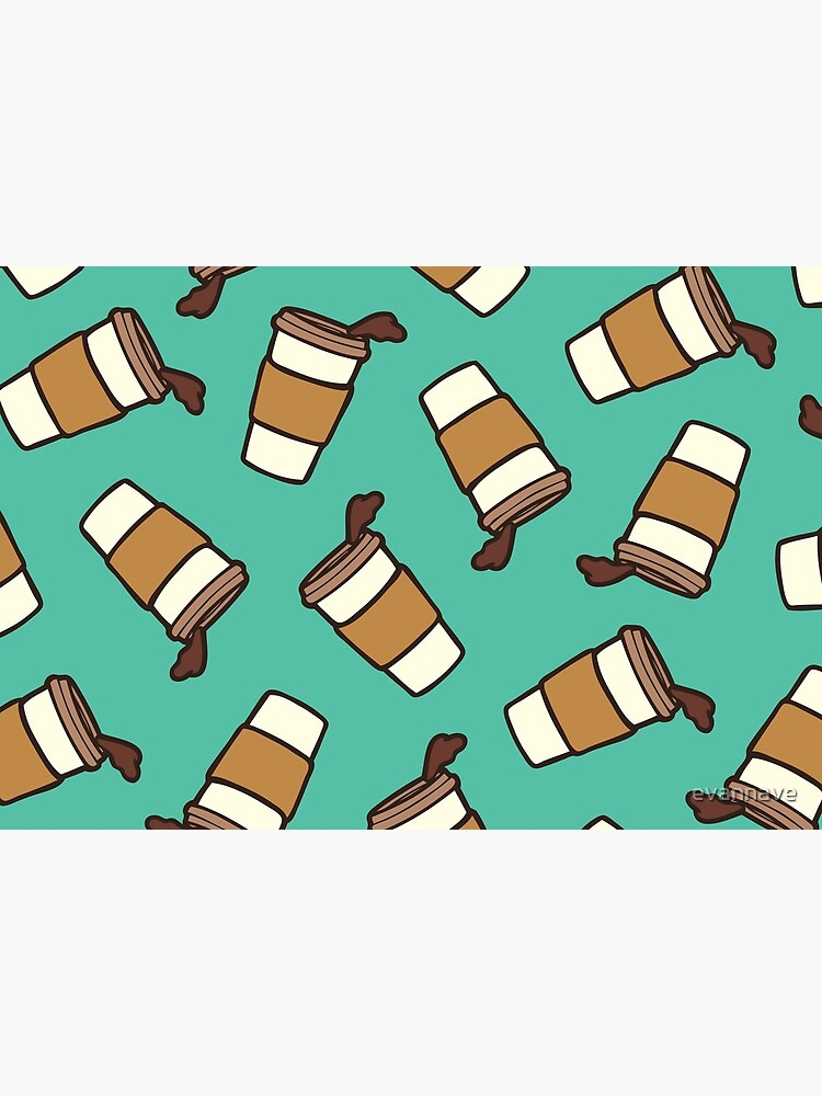 Take it Away Coffee Pattern by evannave