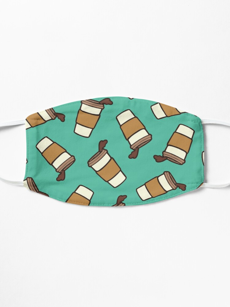 Alternate view of Take it Away Coffee Pattern Mask