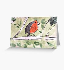 Red Wren by Lexie Uryszek Greeting Card