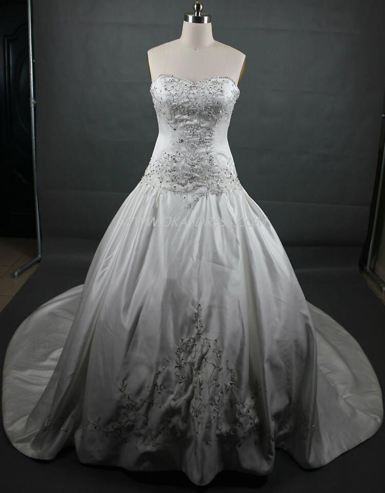 $10.00 Maggie Sottero Esther Lace And Satin Wedding Gown www.haydenbridal.com by tomelle