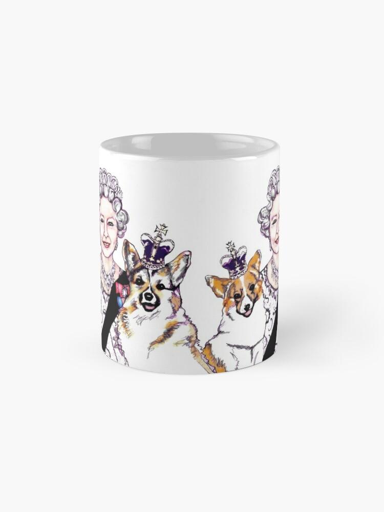 Alternate view of Queen and Corgis Mug