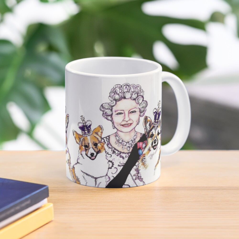 Queen and Corgis Mug
