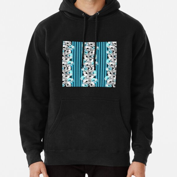 Graphic Daisy Chain Stripe Pullover Hoodie