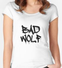 Bad Wolf #1 - Black Women's Fitted Scoop T-Shirt