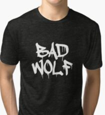 Bad Wolf #1 - White Tri-blend T-Shirt