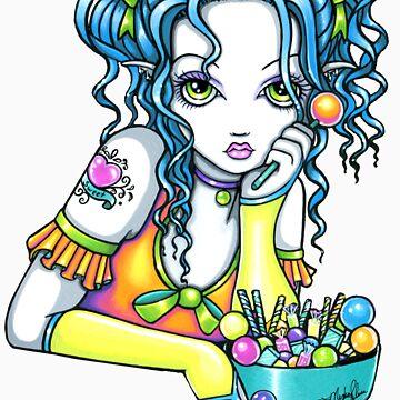 Alisha Rainbow Candy Fairy by MykaJFairies