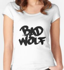 Bad Wolf #2 - Black Women's Fitted Scoop T-Shirt