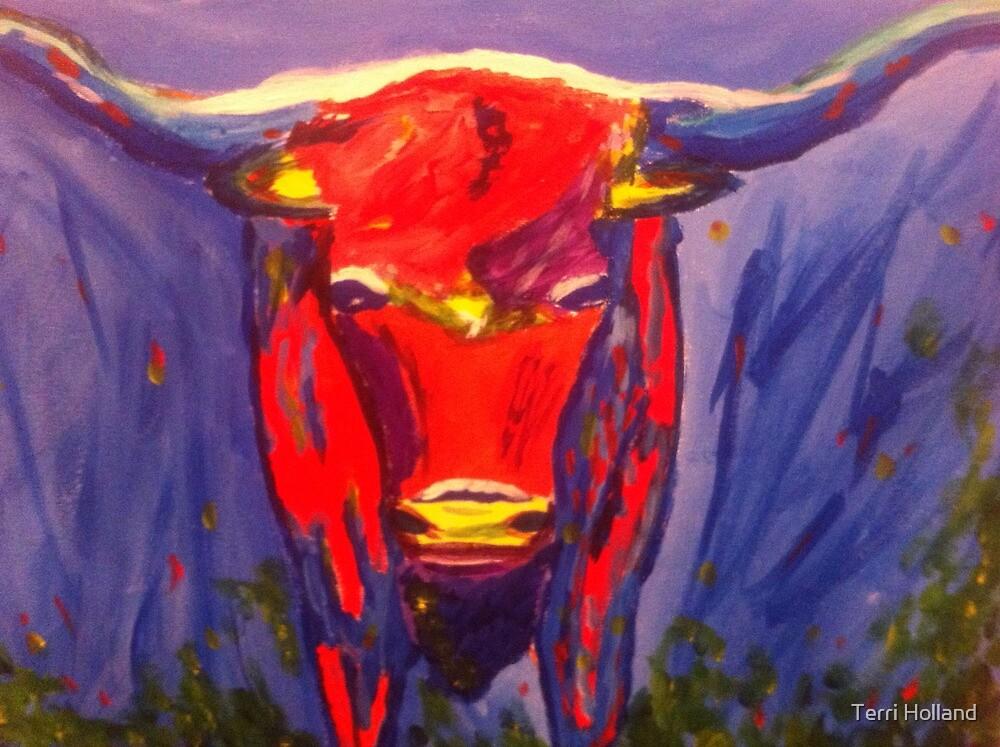 Texas Longhorn by Terri Holland by Terri Holland