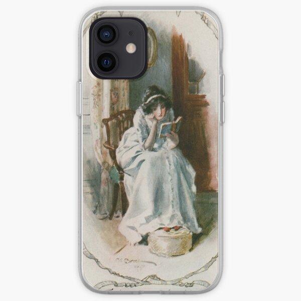 Charles Edmund Brock - Jane Austen Reading Udolpho iPhone Soft Case