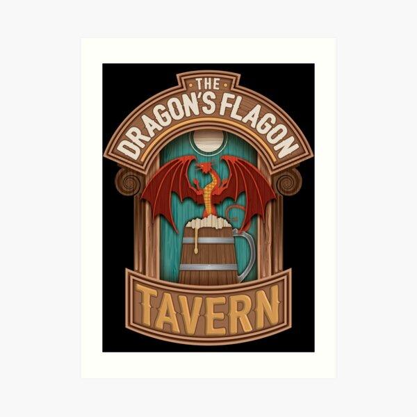 The Dragon's Flagon Tavern Dungeons and Dragons Art Print