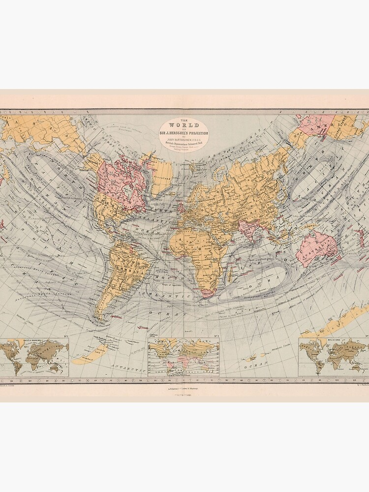 Vintage Map of the World (1871) by BravuraMedia