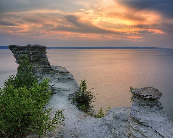 Sunset from the top of Miners Castle by Daniel Brown
