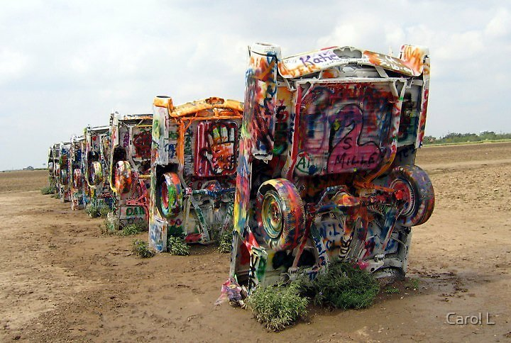 Graffiti Cars by Carol L