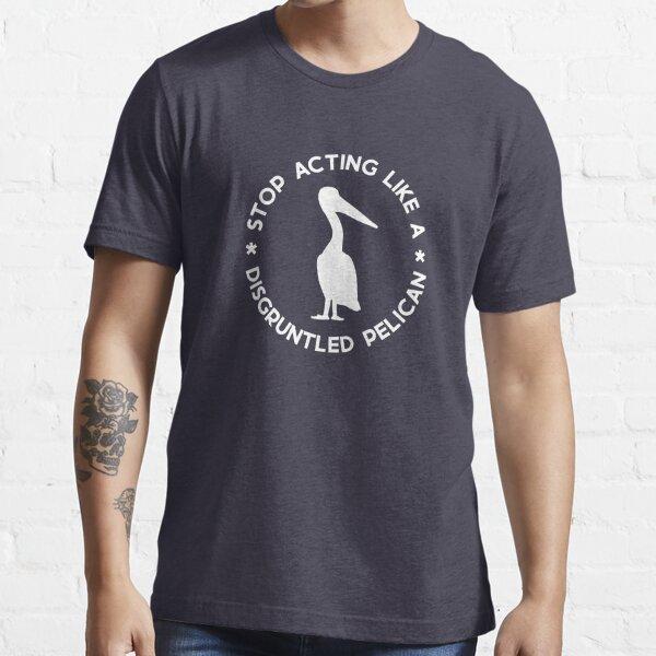 Verärgerter Pelikan (weiß) Essential T-Shirt