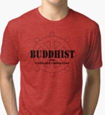 Buddhist for Interfaith Cooperation Tri-blend T-Shirt