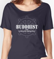 Buddhist for Interfaith Cooperation (dark color) Women's Relaxed Fit T-Shirt