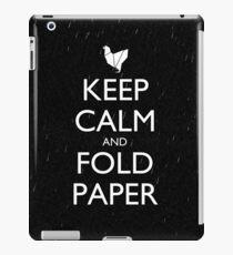 Keep Calm and Fold Paper - Chicken/Rain iPad Case/Skin