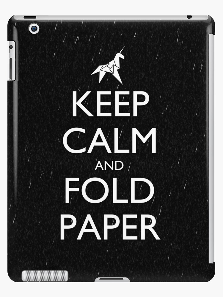 Keep Calm and Fold Paper - Unicorn / Rain by olmosperfect