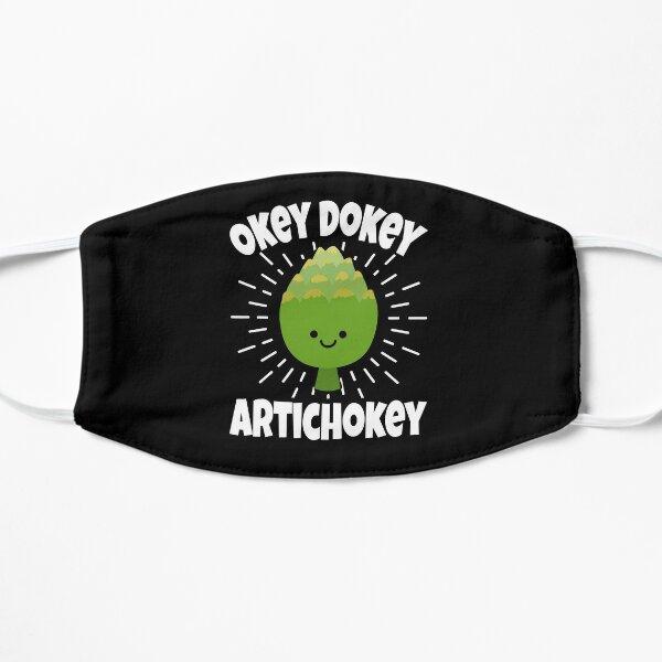 Cute Okey Dokey Artichokey Design Flat Mask