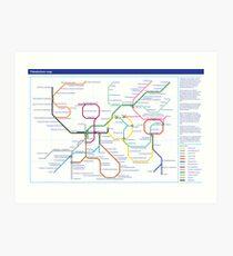 Metabolism - Tube Map Art Print