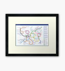 Metabolism - Tube Map Framed Print
